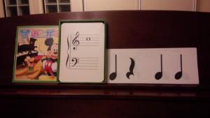 ピアノ音符カード