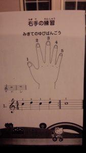 指の番号 拍の数