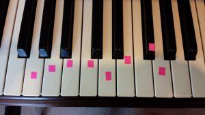 ピアノ ト長調音階