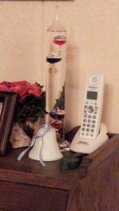 ピアノのレッスン室の温度計「ガリレオ」