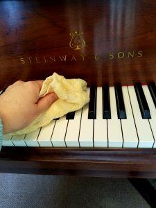スタンウェイピアノ インフルエンザ対策