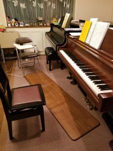 スタンウェイピアノ ピアノレッスン室 床暖房
