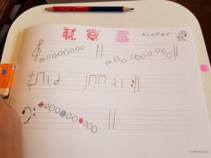 楽譜を書く 絶対音感トレーニング