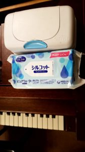 新型・コロナウイルス ピアノの除菌